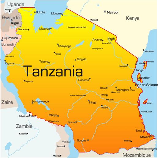 Mapjpg - Where is tanzania